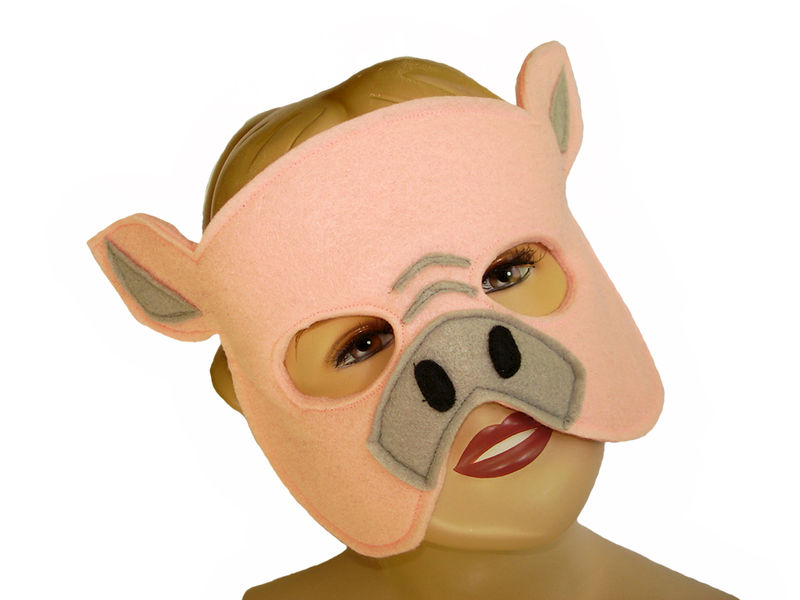Children's Farm Barnyard Animal PIG Felt Mask - product images  of