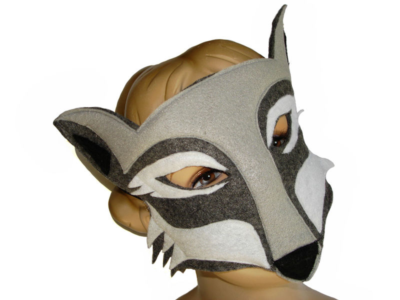 Children's Woodland Animal WOLF Felt Mask - product images  of