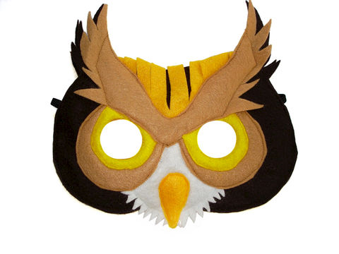 Children's,Woodland,Animal,OWL,Felt,Mask,Children, Clothing, Costume, dress up, pretend play, halloween costume, christmas gift, party favor, felt mask, girls mask, kids mask, fairy princess mask, animal mask, dog mask, kids fox mask, magicalattic