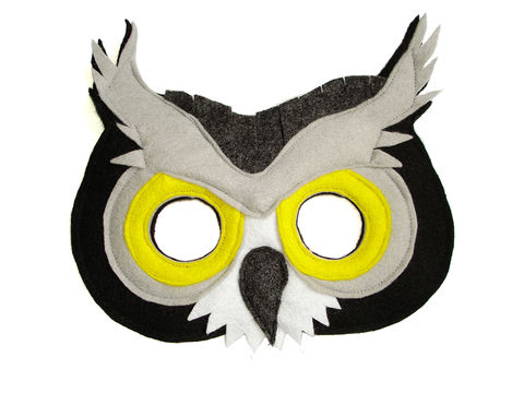 Children's,Woodland,Animal,GREAT,GREY,OWL,Felt,Mask,Children, Clothing, Costume, dress up, pretend play, halloween costume, christmas gift, party favor, felt mask, girls mask, kids mask, fairy princess mask, animal mask, dog mask, kids fox mask, magicalattic