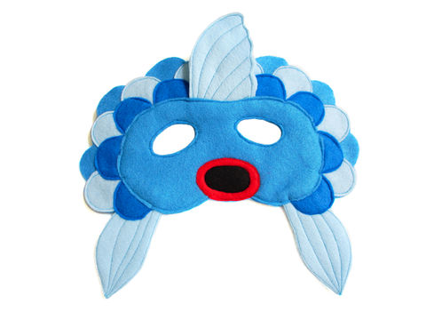 Children's,FISH,Felt,Mask,Children, Clothing, Costume, dress up, pretend play, halloween costume, christmas gift, party favor, felt mask, kids mask, animal mask, birthday gift, toy, fox mask, gold fish mask, magicalattic, what does the fox say, brown bear brown bear what do you sa