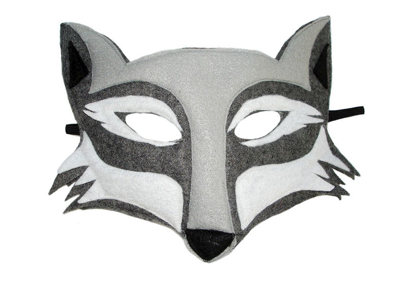 Children's Woodland Animal WOLF Felt Mask and Tail Set - product images  of