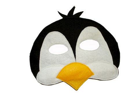 Children's,PENGUIN,Animal,Felt,Mask,for,Boys,Children, Clothing, Costume, dress up, pretend play, halloween costume, christmas gift, party favor, felt mask, girls mask, kids mask, fairy princess mask, animal mask, dog mask, magicalattic