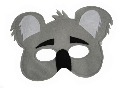 Children's,Animal,KOALA,Bear,Felt,Mask,Children, Clothing, Costume, dress up, pretend play, halloween costume, christmas gift, party favor, felt mask, kids mask, animal mask, jungle animal mask, magical attic, toy, woodland animals, magicalattic