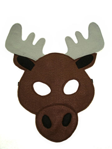 Children's,MOOSE,Felt,Animal,Mask,Children, Clothing, Costume, dress up, pretend play, halloween costume, party favor, felt mask, kids mask, animal mask, toy, fox mask, moose kids mask, woodland animal, christmas gift, magicalattic