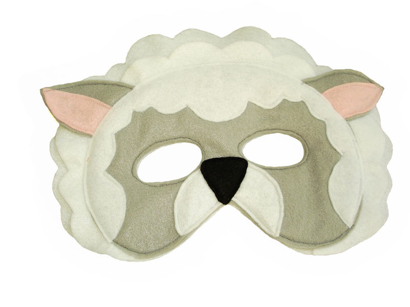 Children's Barnyard Farm Animals Felt Super Combo of 8 Masks - product images  of