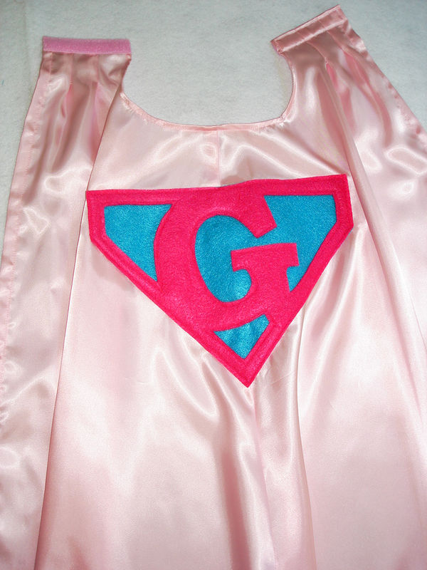 Children's Custom Made Handmade Superhero Personalized Initial Kids Cape for Boys and Girls - product images  of