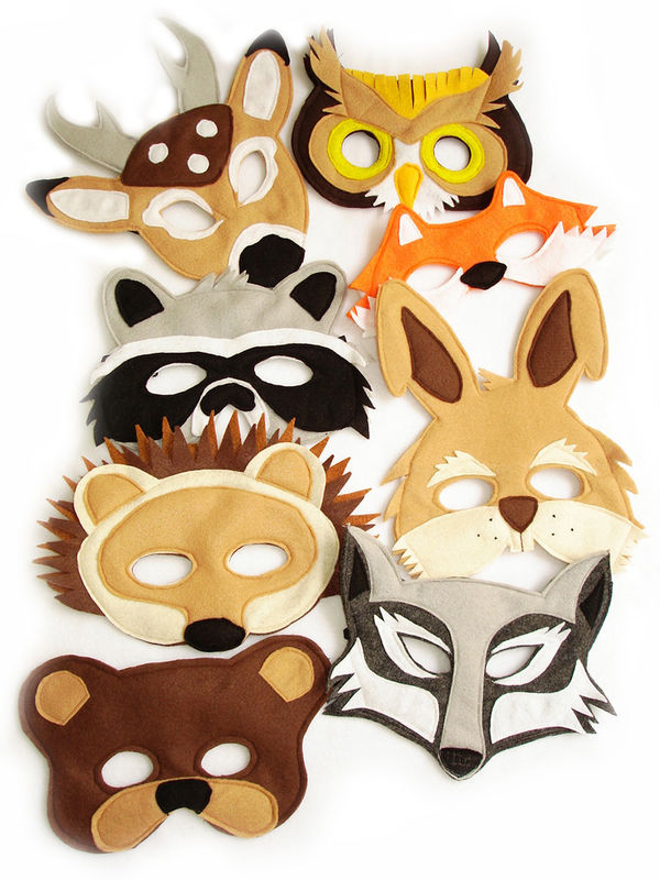 Children's Woodland Animals Felt Mask Super Combo of 8 Masks - product images  of