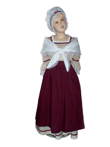 Custom,Boutique,Historical,American,Girl,Inspired,Felicity,Colonial,WORK,DAY,Burgundy,Dress,Set,Children, Clothing, Costume, dress, colonial dress, handmade, girl dress, williamsburg, colonial america, christmas, dress up, christmas gift, halloween, felicity, birthday gift for a girl, pretend play, storybook character, magicalattic,