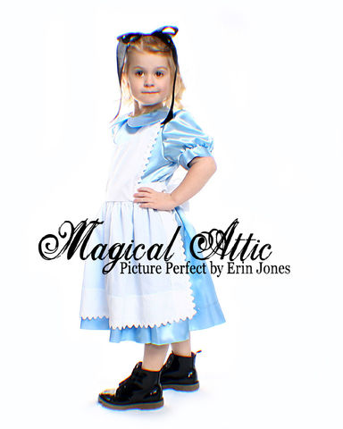 Custom,Boutique,ALICE,IN,WONDERLAND,Girl's,Costume,Dress,Set,Children, Clothing, Costume, girl dress, disney, dress up, school play, christmas gift ,birthday gift, halloween costume, recital, custom dress, magicalattic, storybook character, pretend play, white rabbit