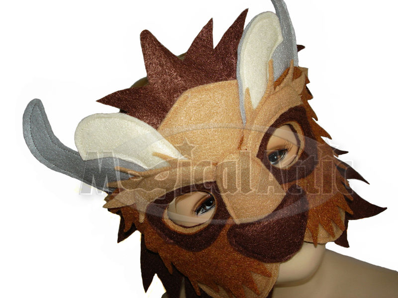 Children's Beauty and the Beast Handmade BEAST Felt Mask - product images  of