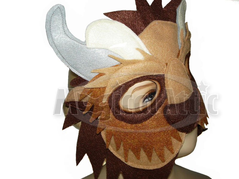 Children's Beauty and the Beast Handmade BEAST Felt Mask and Matching Paws - product images  of
