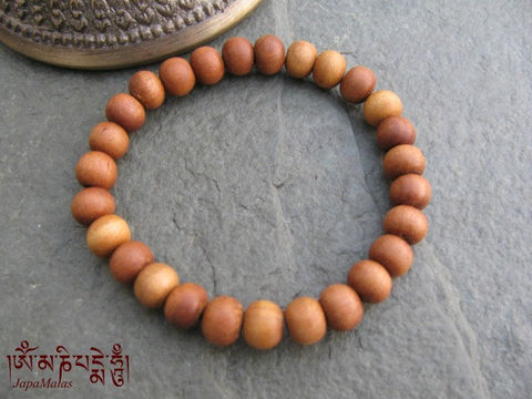 Sandalwood,Bracelet,Mala,purified,&,blessed,mala,Jewelry,Beadwork,sandalwood,japa_mala_bead,hindu,india,buddhist_mala,meditation,yoga,zen,prayer_beads,worry_beads,yoga_jewelry,power_bracelet,sandal wood beads,mantras,pure intention,elastic cord