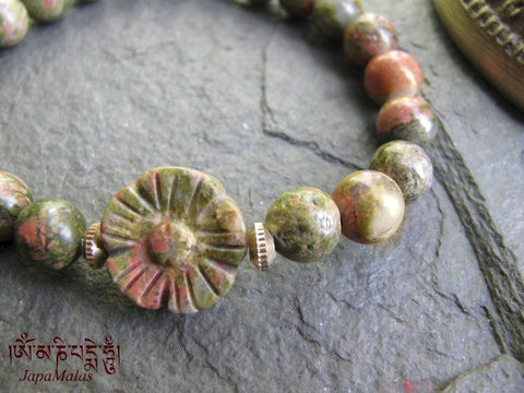 Unakite,mala,Bracelet,purified,&,blessed,yoga,Jewelry,Charm_Bracelet,japa_mala,power_stone,japa_malas,japa_mala_beads,malas,gemstone,reiki,meditation,energy_bracelet,coral,unakite,mantras,pure intention