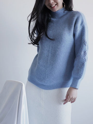 Light,Blue,Knit, light blue knit, blue knit,