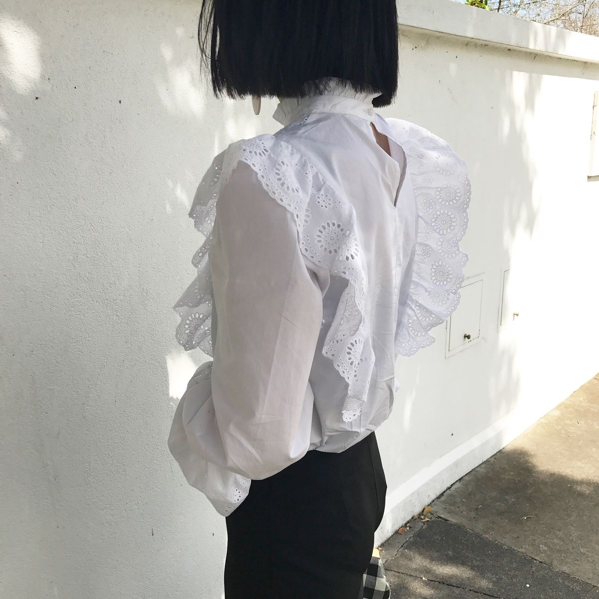 White Ruffle Shirt  - product images  of
