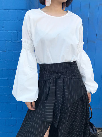 Bell,Sleeve,Blouse,shirt, blouse, white shirt, bell sleeve