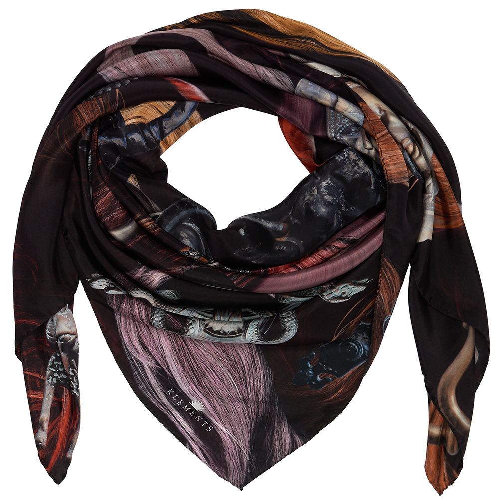 FISHPOOL SQUARE SCARF - product images  of
