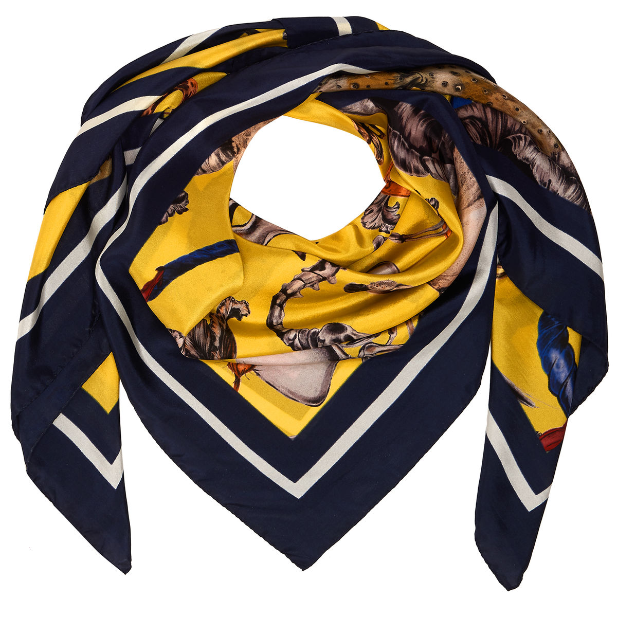 FREAKS SQUARE SCARF IN SULPHUR - product images  of