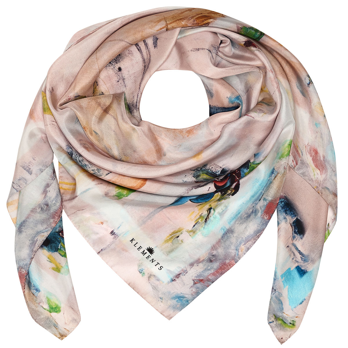 OIL PAINTING SQUARE SCARF - product images  of