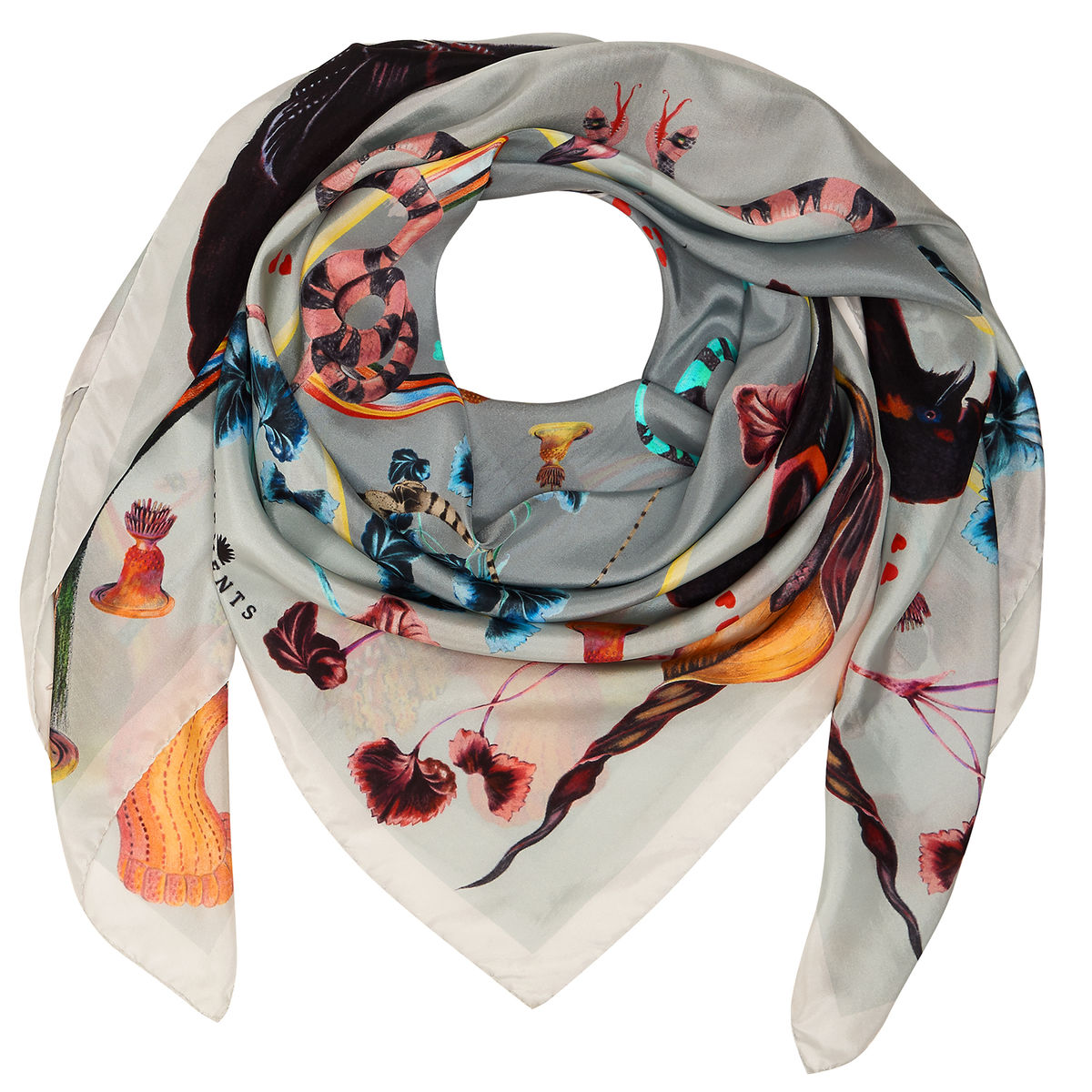 RAINBOW TROUT SQUARE SCARF - product images  of