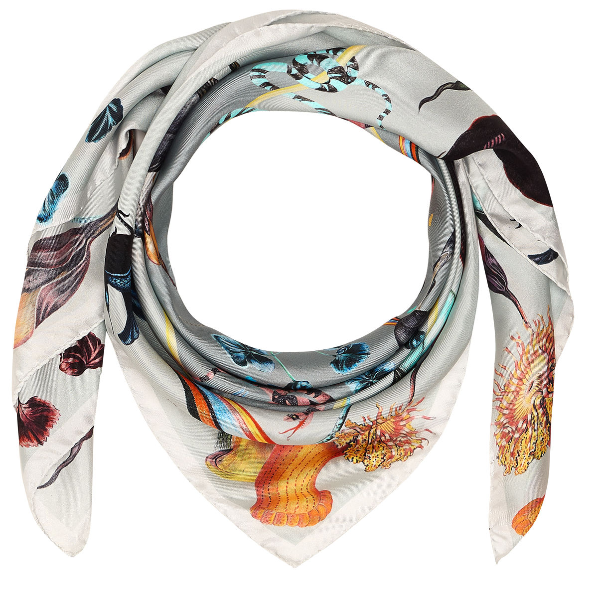 RAINBOW TROUT MEDIUM SQUARE SCARF - product images  of