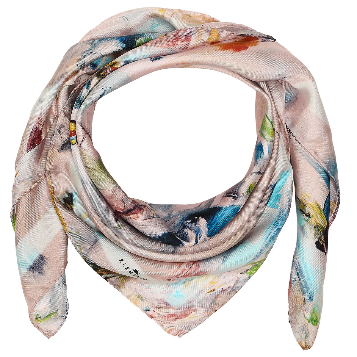 OIL PAINTING MEDIUM SQUARE SCARF - product images  of