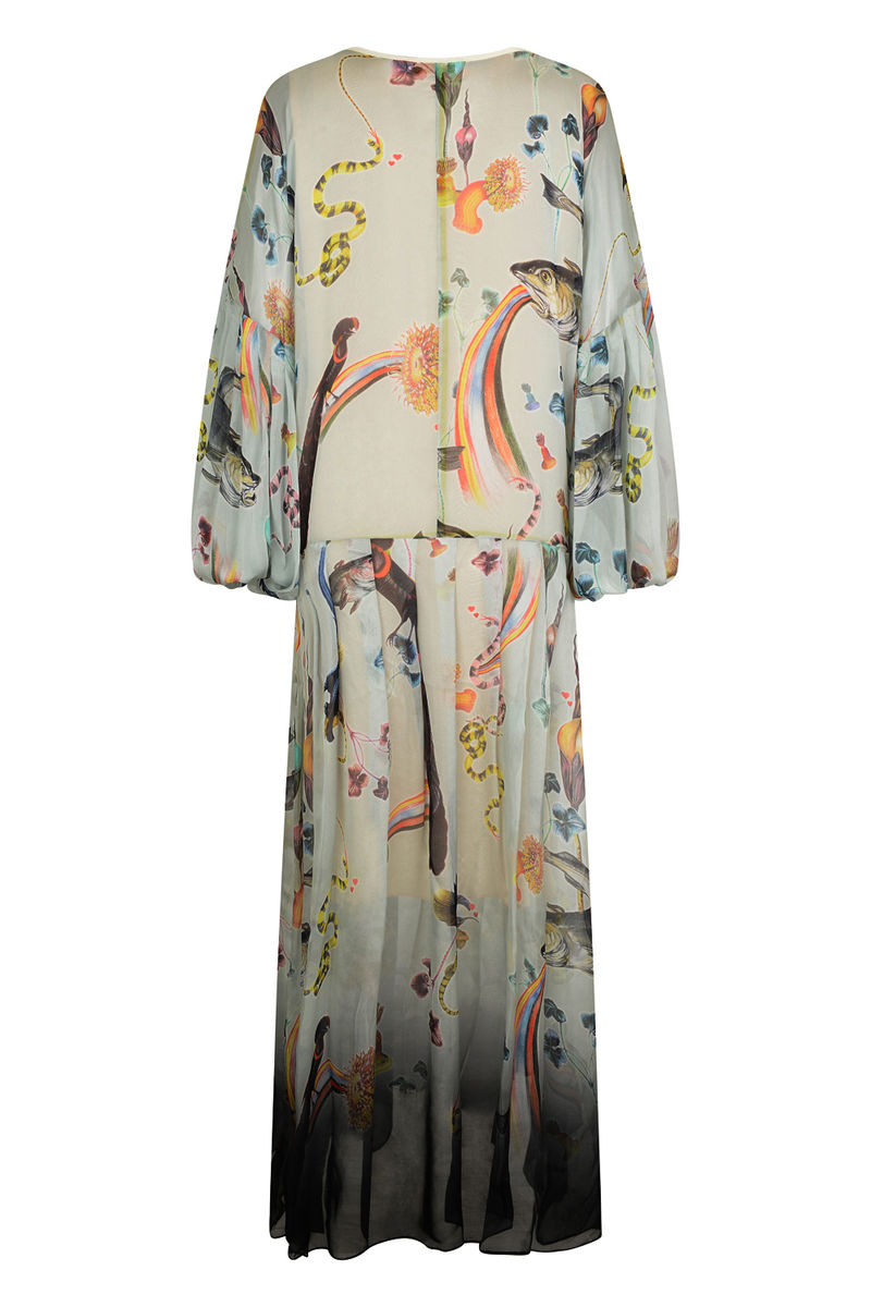 DUSK DRESS IN RAINBOW TROUT PRINT - product images  of