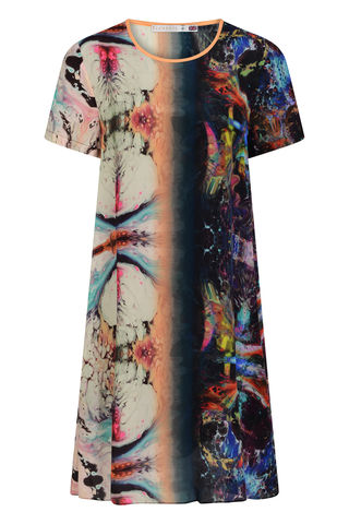 FRIEDA,DRESS,IN,ORBIT,PRINT,MARBLING SHIFT DRESS