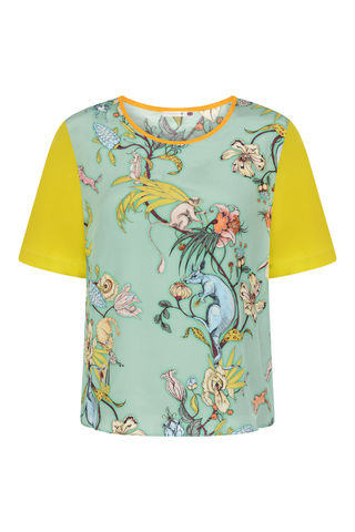 CLEMENTINE,TOP,KANGAROO,PRINT,tshirt animals kanagroo print marbling dazed confused vogue