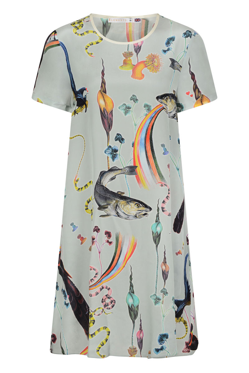FRIEDA DRESS IN RAINBOW TROUT PRINT - product images  of