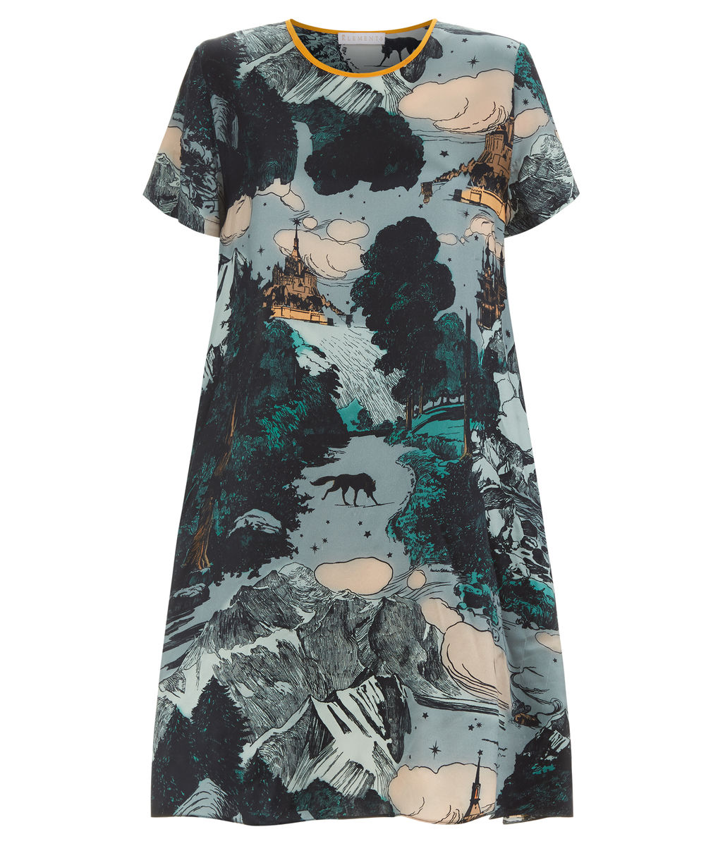 FRIEDA DRESS LE MONT SAINT MICHEL PRINT - product images  of