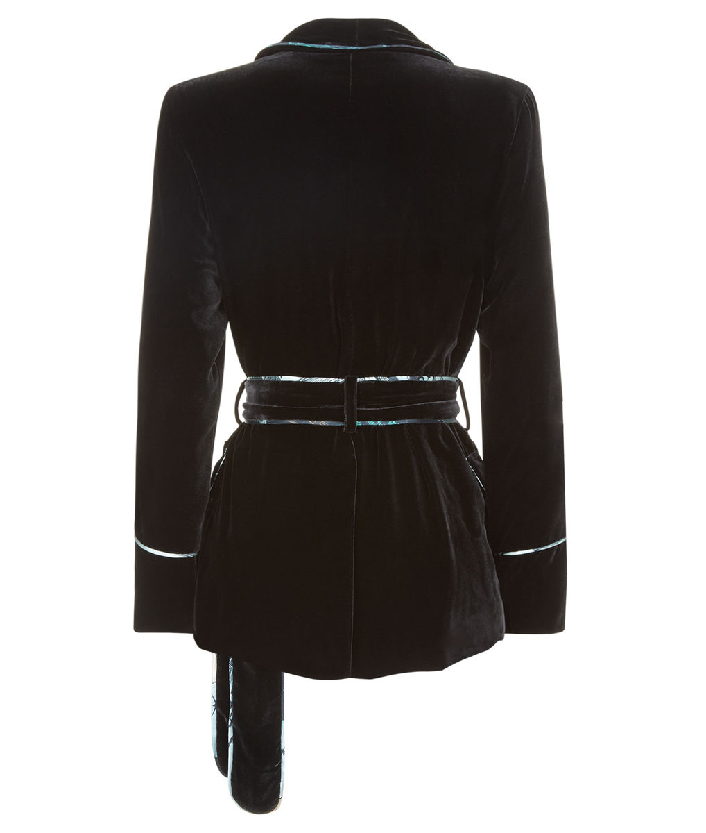 Carrie Velvet Smoking Jacket - product images  of