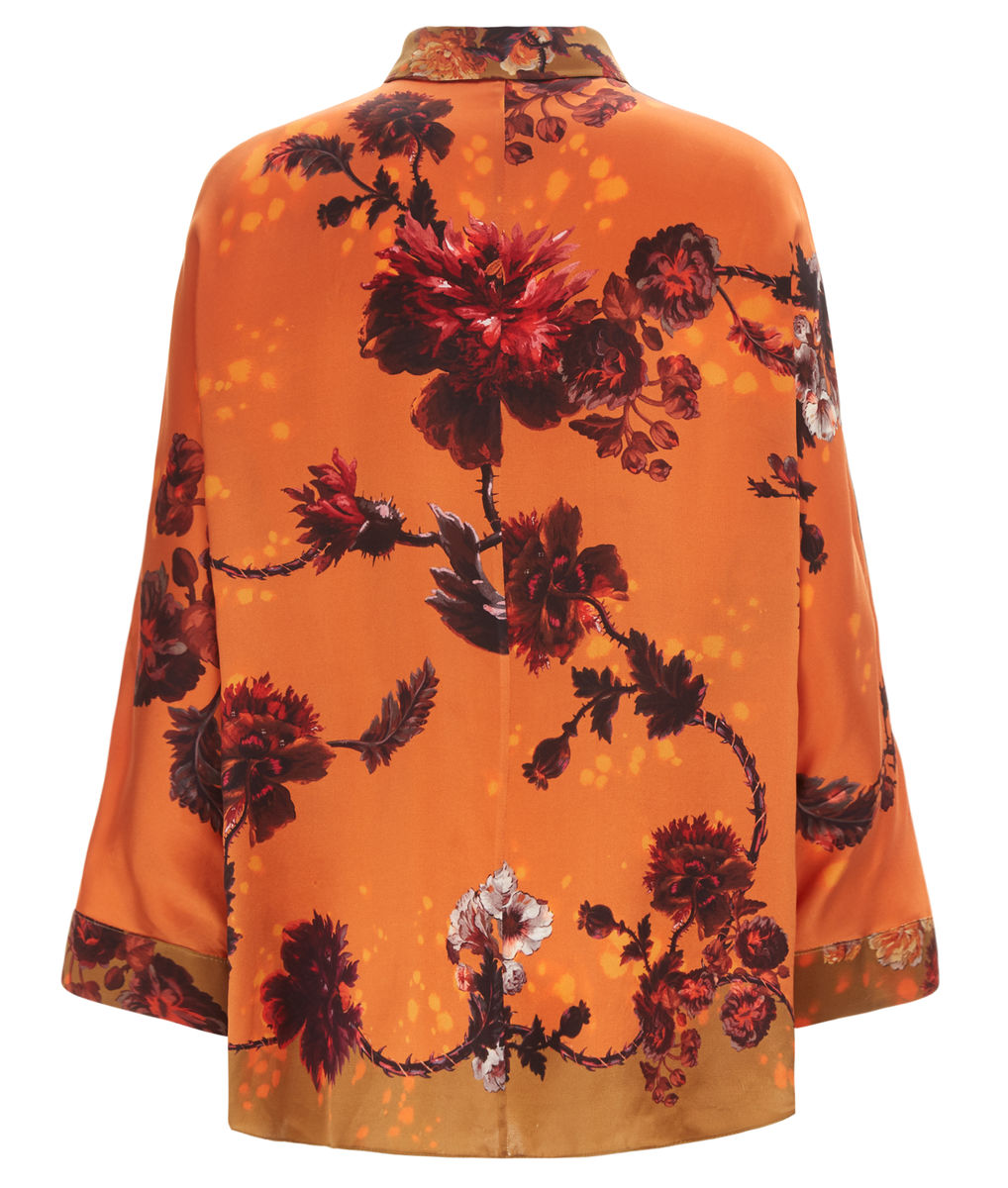 Escapist Shirt in Gothic Floral Print (Ochre) - product images  of