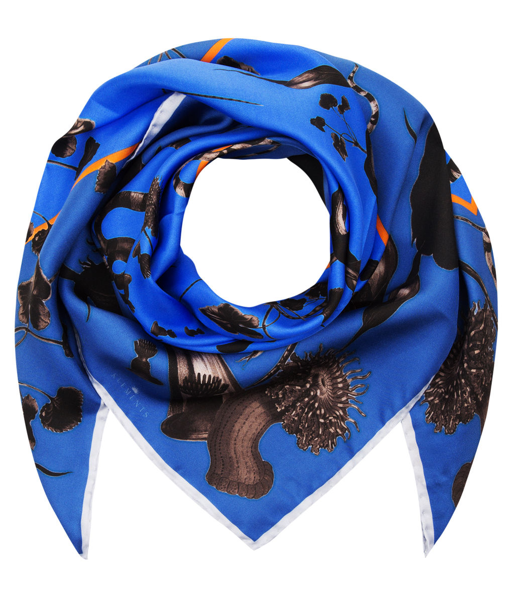Medium scarf in Rainbow Trout Print (blue) - product images  of