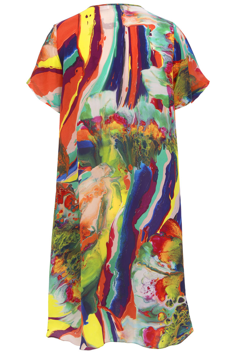Frieda Dress in Magma print - product images  of