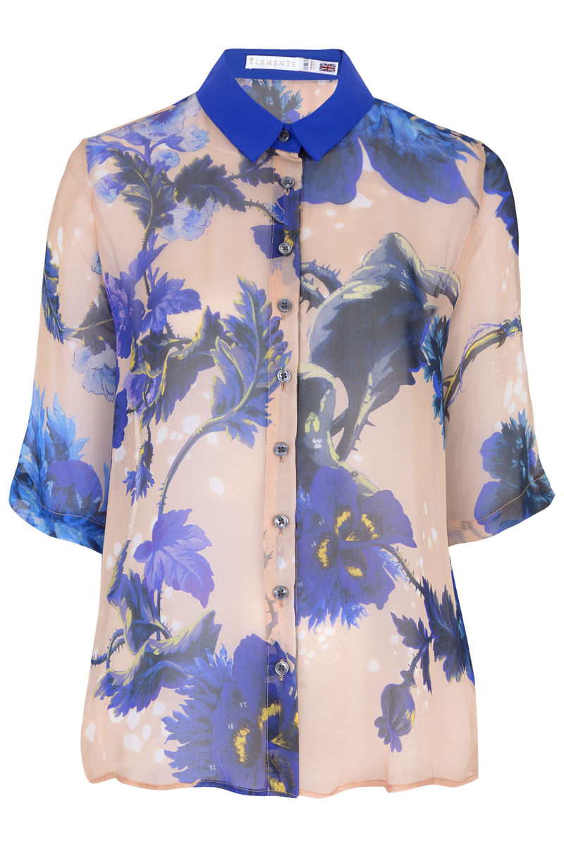 Mildred shirt in Gothic Floral (blues) print - product images  of