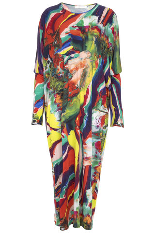 Auguste,dress,in,Magma,print,jersey dress magma print marbeling