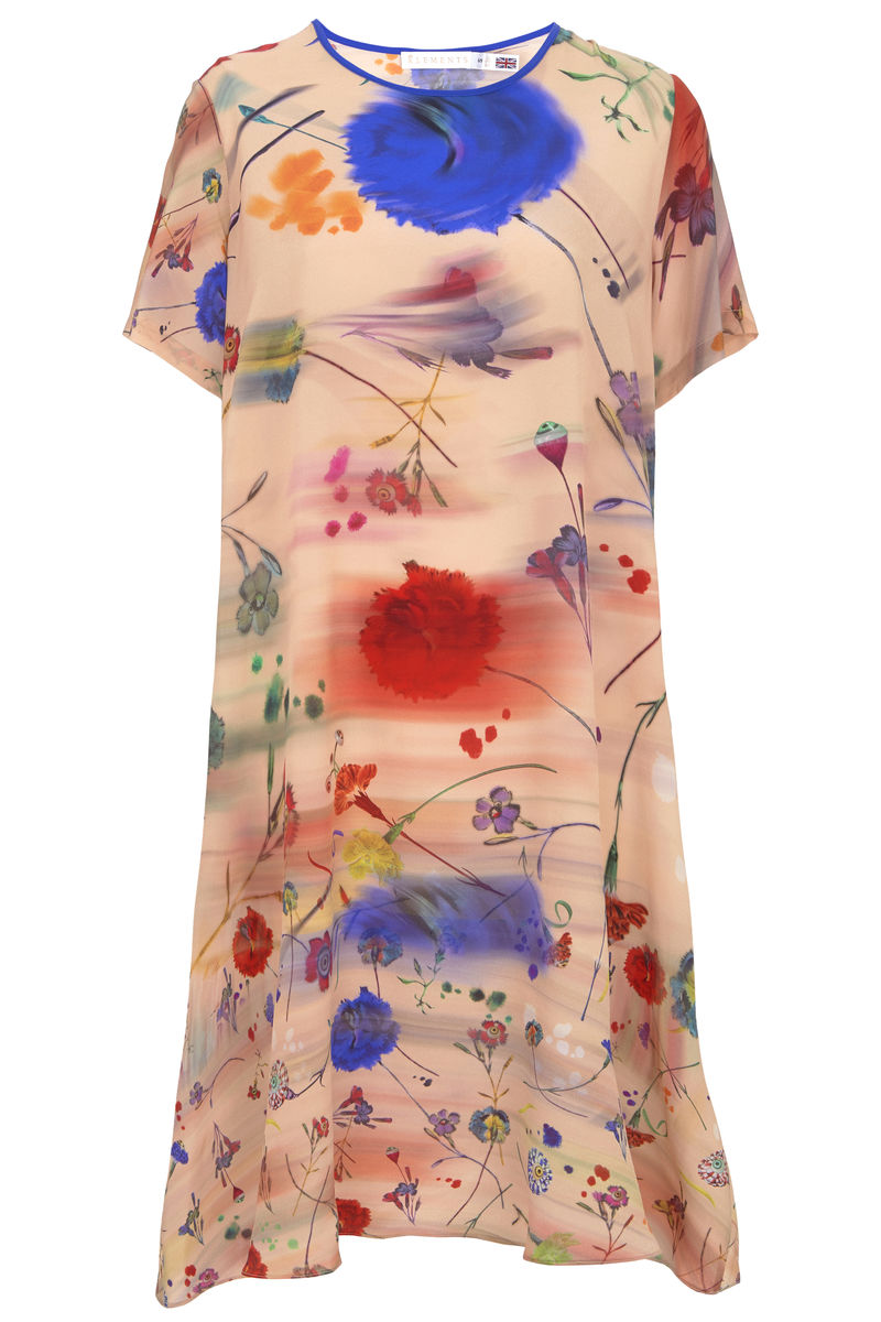 Frieda Dress in Floral Explosion Blurs Print - product images  of