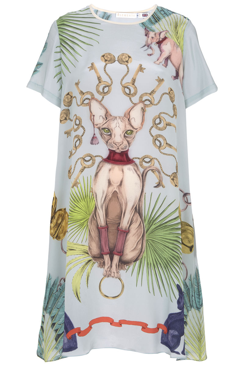Frieda Dress in Sphynx Print - product images  of
