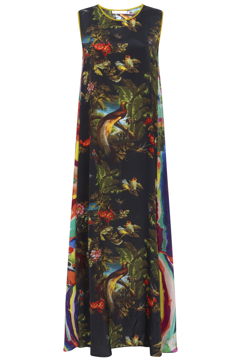 Patti Dress in Volcano and Magma print  - product images  of