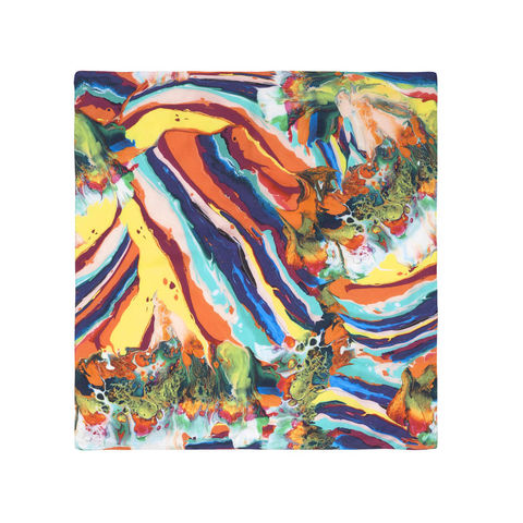 Medium,scarf,in,Magma,print.,marbling scarf luxury