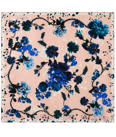 Square,scarf,in,Gothic,Floral,print