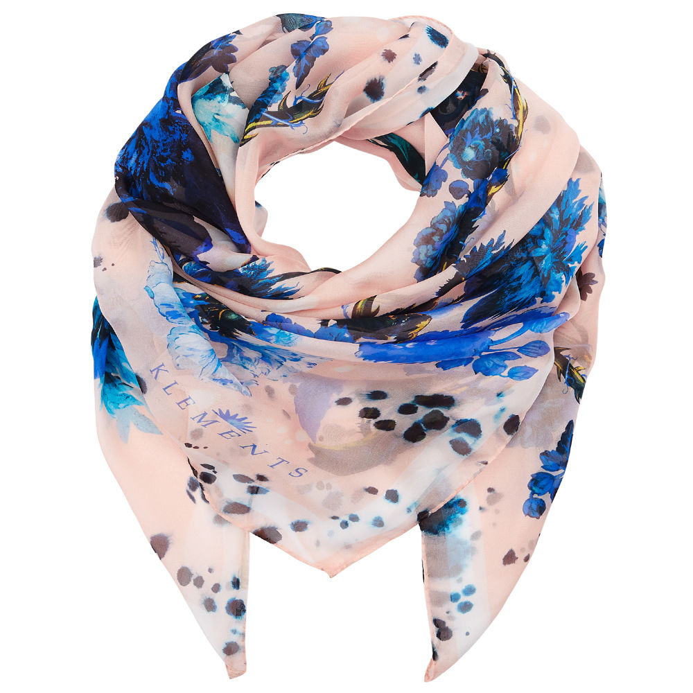 Square scarf in Gothic Floral print - product images  of