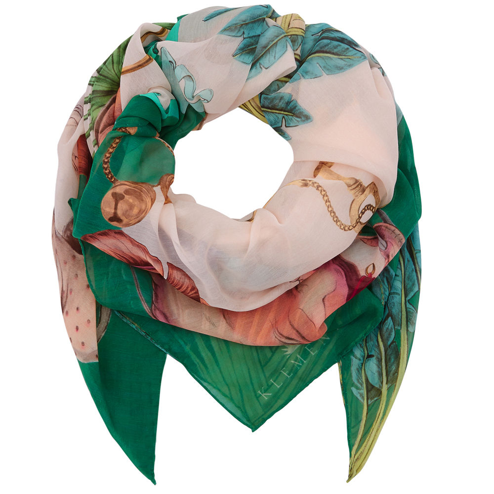 Square scarf in Sphynx print - product images  of