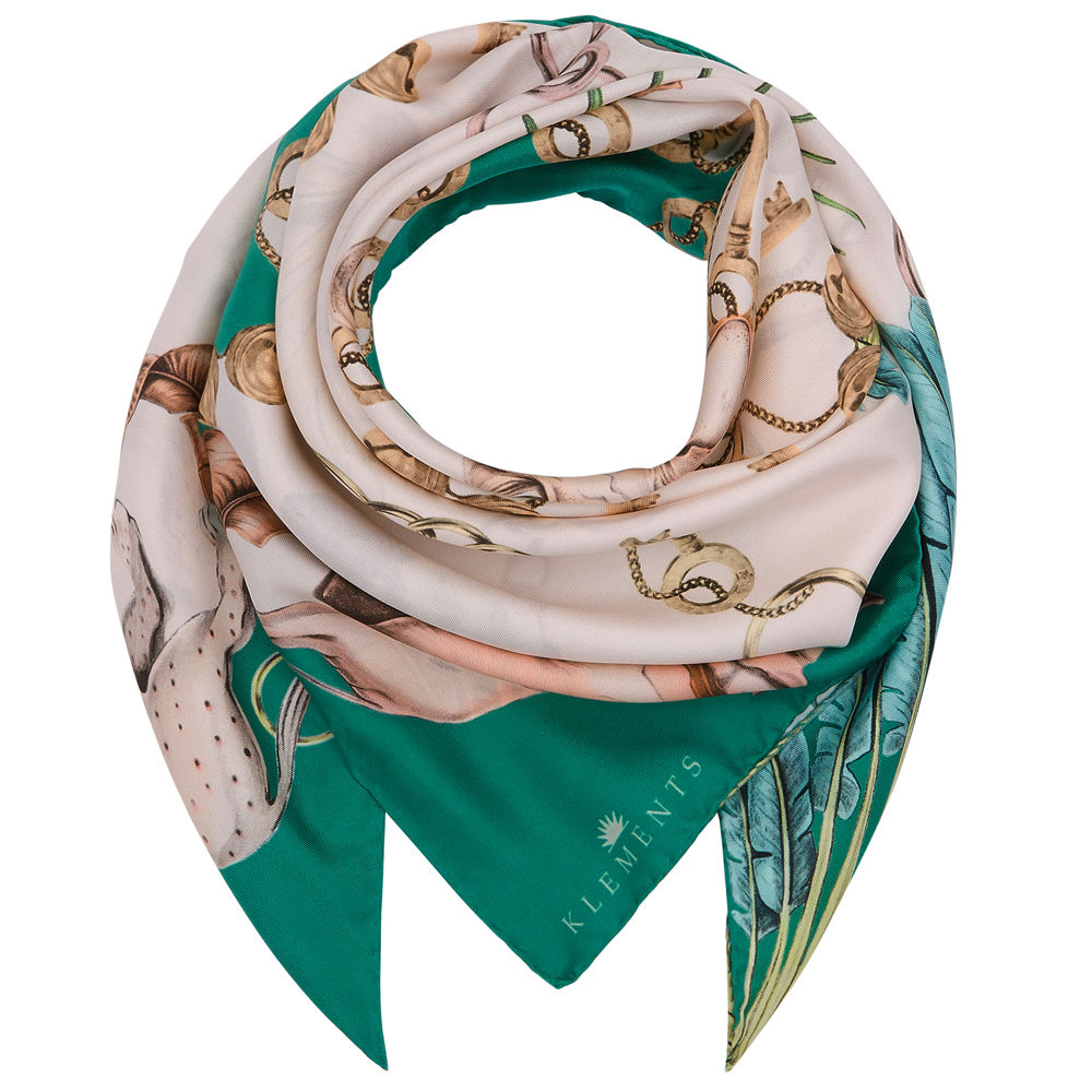 Medium scarf in Sphynx print - product images  of