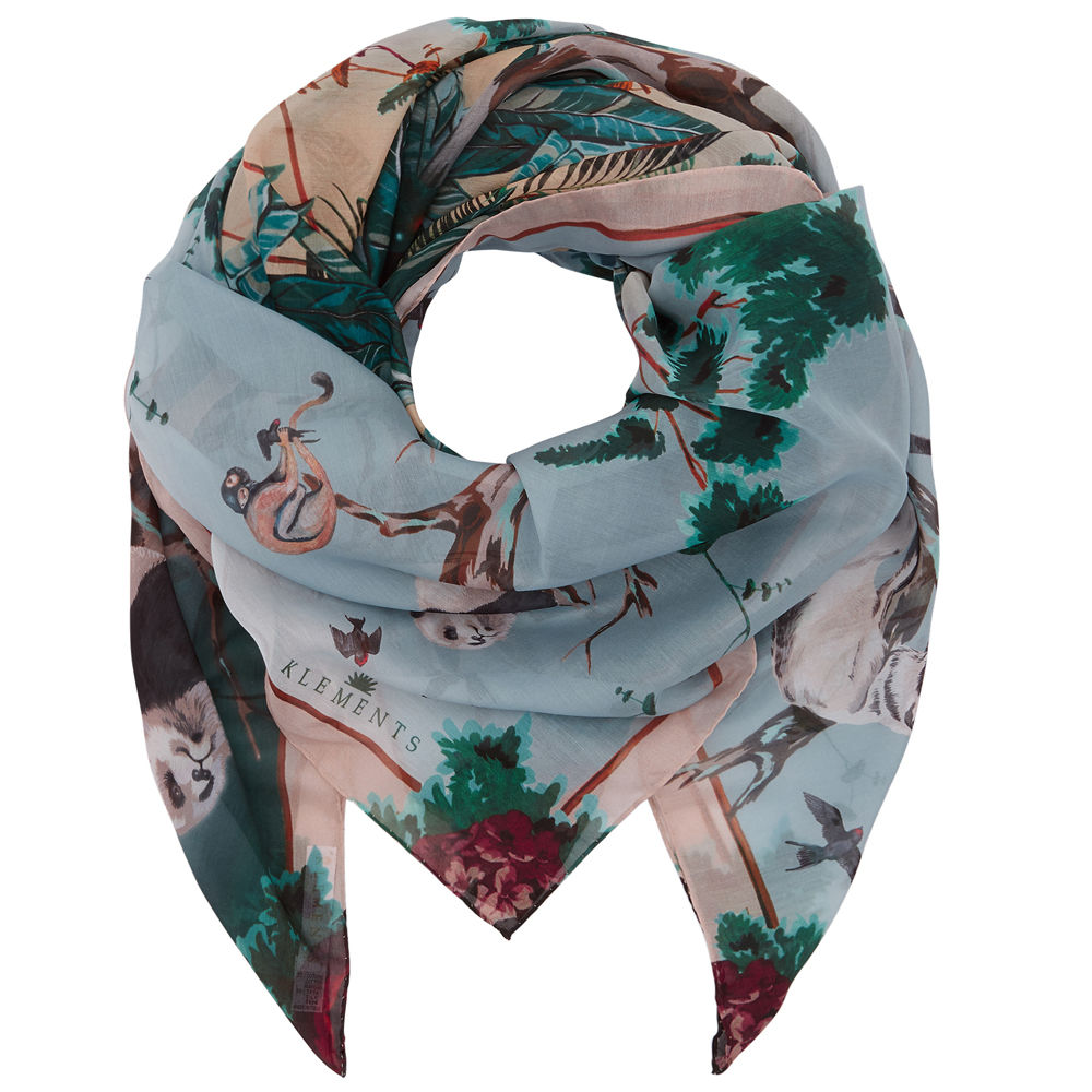 Square scarf in Pandas Palace print - product images  of