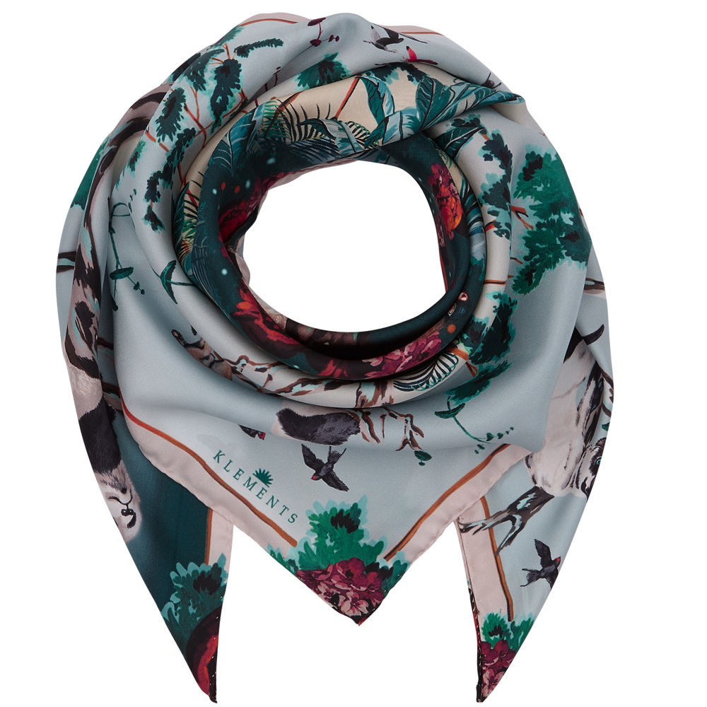 Medium scarf in Pandas Palace Print - product images  of
