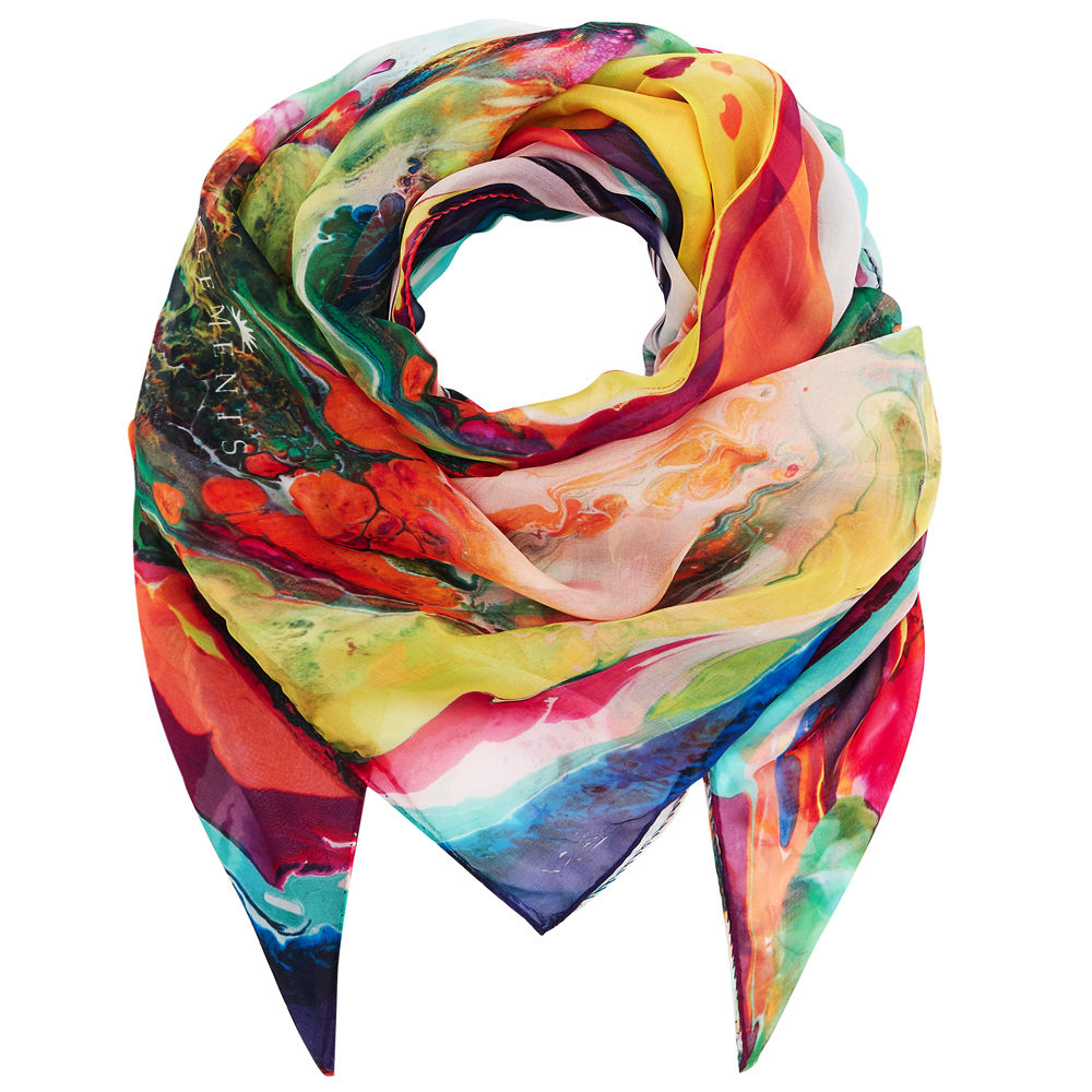 Square scarf in Magma print - product images  of