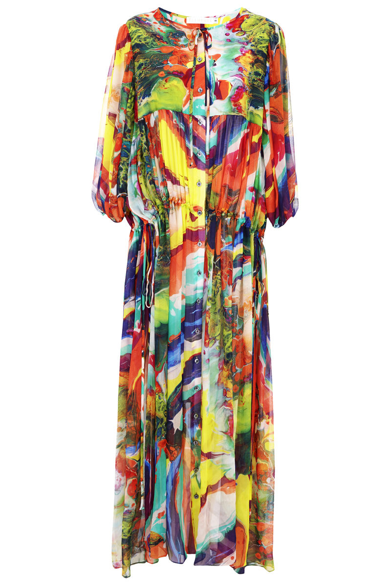Olympia Magma print dress / SOLD OUT - product images  of